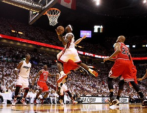 basquete nba lebron james miami heat chicago bulls (Foto: agência Getty Images)