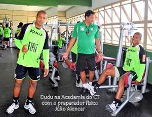 Dudu américa-MG musculação (Foto: Divulgação / Site Oficial do América-MG)