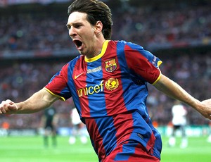messi barcelona gol manchester united liga dos campeões (Foto: agência Reuters)