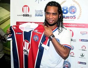Carlos Alberto é apresentado no Bahia (Foto: Richard Souza / GLOBOESPORTE.COM)
