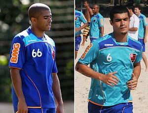 montagem Junior Cesar Egídio Flamengo (Foto: Editoria de Arte / GLOBOESPORTE.COM)
