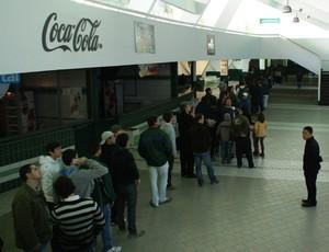 Fila para a venda de ingressos do Coritiba (Foto: Divulgação/Coritiba)