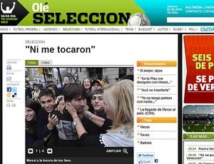 Messi Olé (Foto: Olé)