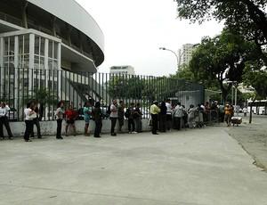 fila vôlei brasil liga mundial (Foto: Helena Rebello / Globoesporte.com)