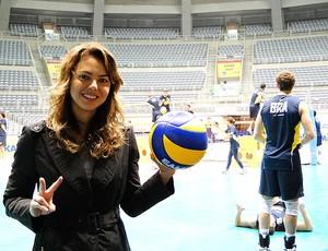 vôlei leila treino brasil (Foto: Helena Rebello / Globoesporte.com)