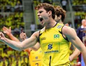 vôlei Bruninho Brasil x Polônia (Foto: Alexandre Arruda / CBV)