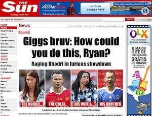 Giggs caso reprodução (Foto: Reprodução / The Sun)