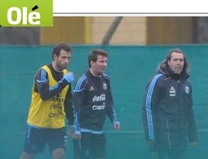 argentina treino (Foto: Reprodução/Olé)