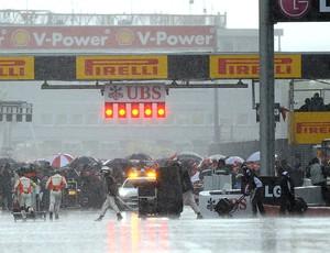 chuva paralisa GP do Canadá (Foto: AFP)