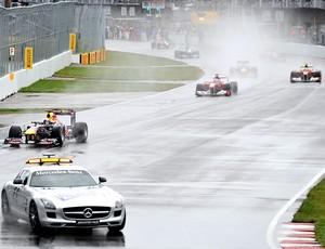 Safety Car na corrida do GP do Canadá (Foto: AFP)