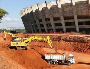obras estádio mineirão  (Foto: Leonardo Simonini / Globoesporte.com)