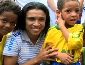 Marta futebol feminino Tá na Área 2 (Foto: Reprodução SporTV)