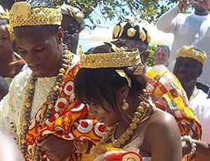 reprodução the sun drogba casamento Lalla Diakite (Foto: Reprodução The Sun)