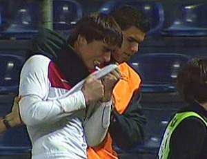 César, goleiro Sub-20 do Flamengo (Foto: Reprodução SporTV)