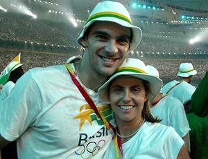 vÔlei Robertinha e Giba (Foto: Arquivo Pessoal)