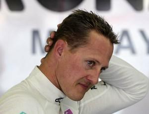 Michael Schumacher treino GP da Europa Valência (Foto: Reuters)