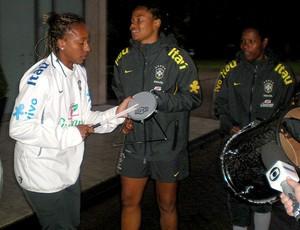 futebol femino brasil pagode alemanha (Foto: Laura Fonseca)