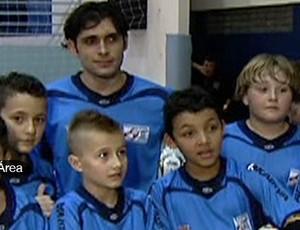Tiago, goleiro de futsal (Foto: Reprodução SporTV)