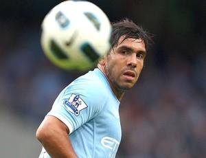 Tevez na partida do Manchester City (Foto: Getty Images)