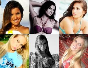 candidatas musa do brasileirão (Foto: Divulgação)