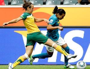 Marta na partida do Brasil contra a Asutralia no Mundial (Foto: AP)