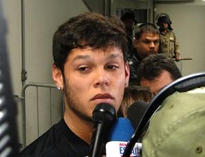 Wendel do Atlético-MG durante entrevista (Foto: Marco Antônio Astoni / Globoesporte.com)