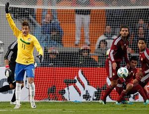 neymar brasil venezuela copa américa (Foto: agência AP)