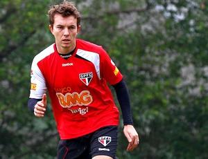 Dagoberto no treino do São Paulo (Foto: Luiz Pires / VIPCOMM)