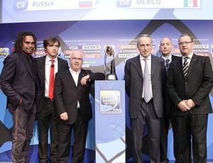 Futebol de areia dorteio FIFA Copa do Mundo (Foto: Reprodução / FIFA)