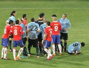 Uruguai x Chile (Foto: João Garschagen / Globoesporte.com)
