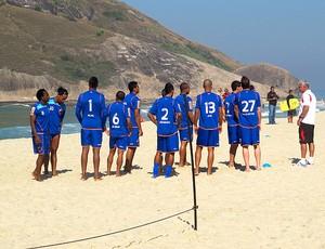 jjogadores flamengo treino praia (Foto: Richard Souza / Globoesporte.com)