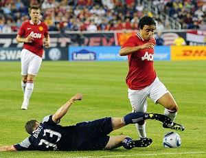 Rafael do Manchester United contra o New England (Foto: EFE)