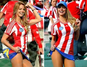 torcedora do Paraguai na partida contra a Venezuela (Foto: Reuters)