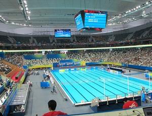 Centro Esportivo Oriental xangai mundial de natação (Foto: Lydia Gismondi / Globoesporte.com)