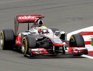 Lewis Hamilton no treino do GP da Alemanha (Foto: EFE)