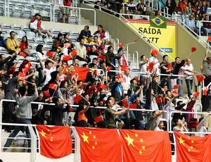 torcida china vôlei brasil china jogos mundiais militares (Foto: Helena Rebello / Globoesporte.com)