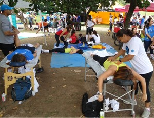 Circuito das Estações Rio de Janeiro corrida massagem (Foto: Lucas Loos / GLOBOESPORTE.COM)