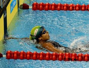 Etiene Medeiros, 100m costas Mundial de natação em Xangai (Foto: Satiro Sodré / AGIF)