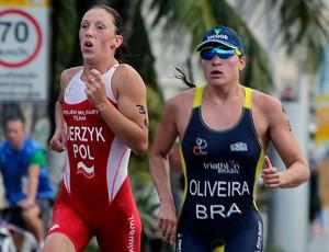 Pâmella Oliveira, triatleta capixaba durante Jogos Mundiais Militares (Foto: Divulgação)