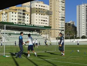 Treino do Cruzeiro, em Goiânia (Foto: Fernando Martins / Globoesporte.com)