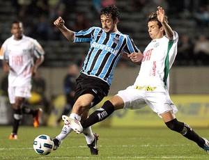 Douglas no jogo do Grêmio contra o América-MG (Foto: Neco Varella / Ag. Estado)