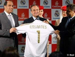 camisa real madrid patrocínio emirates (Foto: divulgação Site Oficial do Real Madrid)
