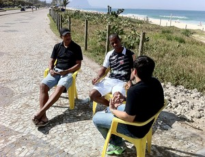 Dedé Júnior baiano Eric Farias (Foto: Marcelo Pizzi / TV Globo)