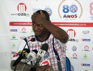 Jobson em coletiva no Bahia (Foto: Raphael Carneiro/Globoesporte.com)