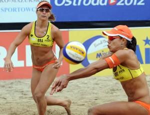 Juliana e Larissa vôlei de praia Grand Slam Polônia (Foto: Divulgação/FIVB)