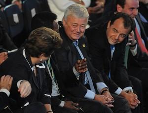 dilma rousseff pelé ricardo teixeira sérgio cabral sorteio da copa do mundo 2014 (Foto: André Durão / Globoesporte.com)