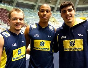 Vitor, Renan e Hugo cariocas seleção brasil juvenil volei (Foto: Fernanda Duque Estrada / CBV)