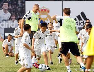 treino do Real Madrid na China (Foto: Reprodução / Site Oficial do Real Madrid)