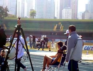 Carlos Eduardo Chinin, do decatlo se lesionad no trofeu brasil (Foto: Amanda Kestelman / Globoesporte.com)