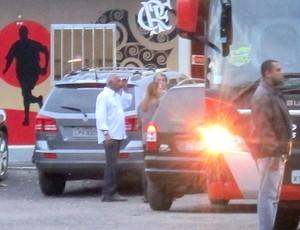 Patricia Amorim Ninho do Urubu (Foto: Janir Junior / Globoesporte.com)